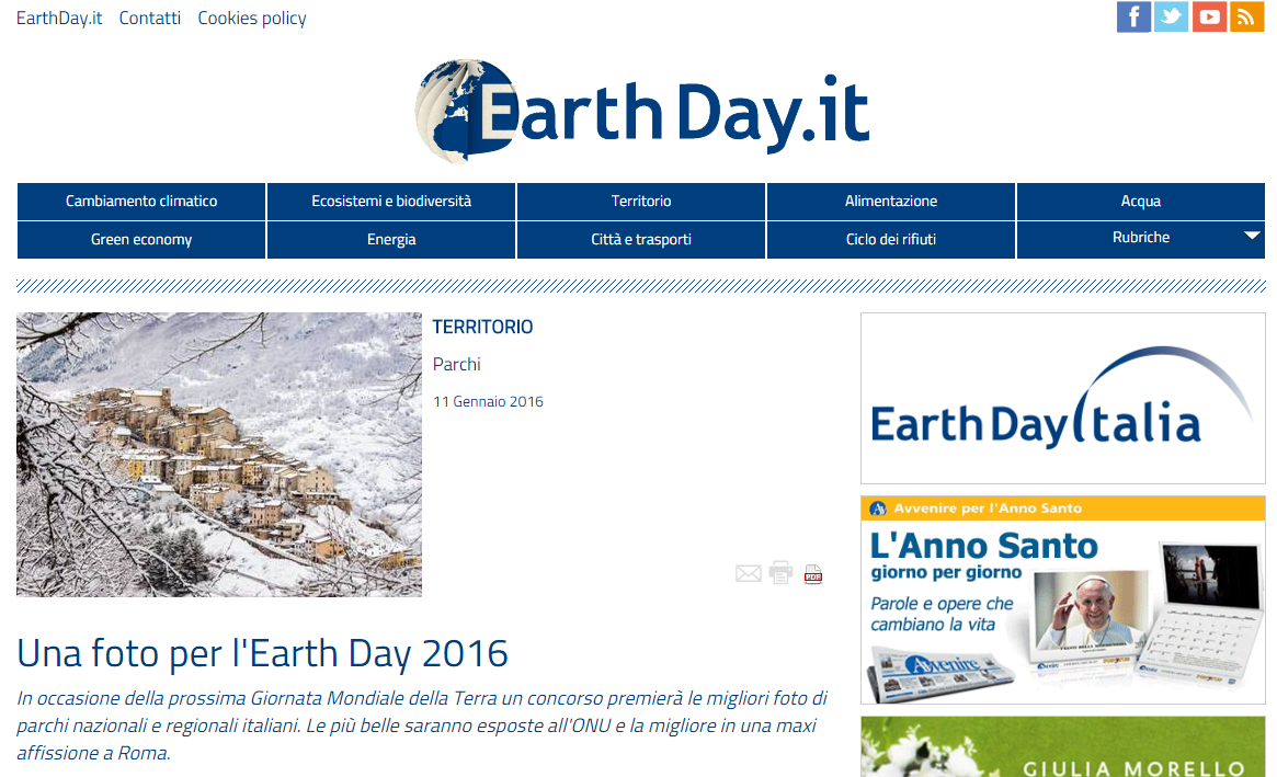 Earth Day Italia 11/01/2016